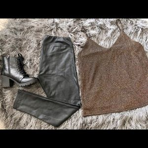 Other - Faux leather leggings and cami